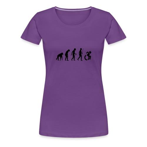 EvolutionWheelchair2 - Vrouwen Premium T-shirt