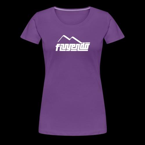 fluyendo logo BIANCO - Women's Premium T-Shirt