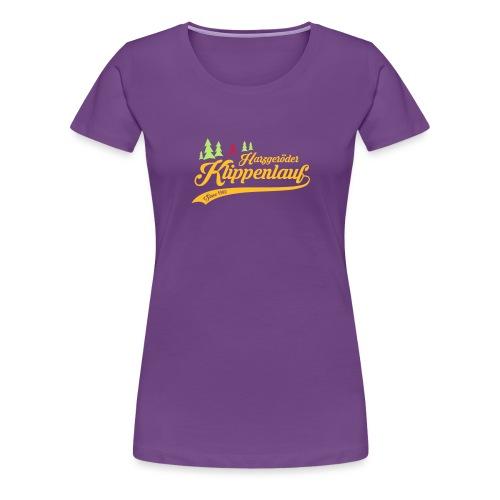 Klippenlauf Retro Front - Frauen Premium T-Shirt