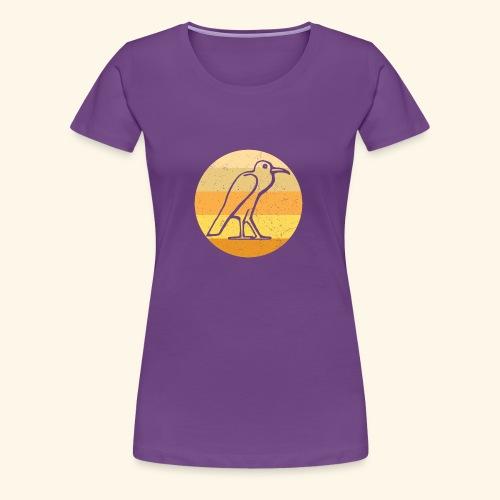 Egyptian Bird Retro - Women's Premium T-Shirt