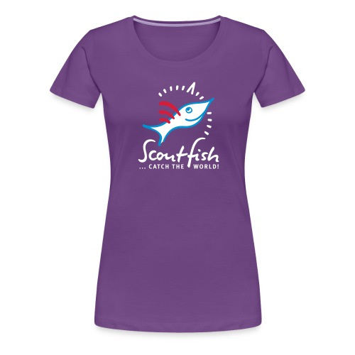 kompassscoutfishslogan - Frauen Premium T-Shirt