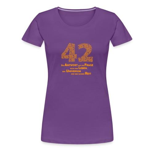 DIE Antwort - 42 - Frauen Premium T-Shirt