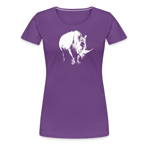 White Rhinoceros (highlights only) - Women's Premium T-Shirt