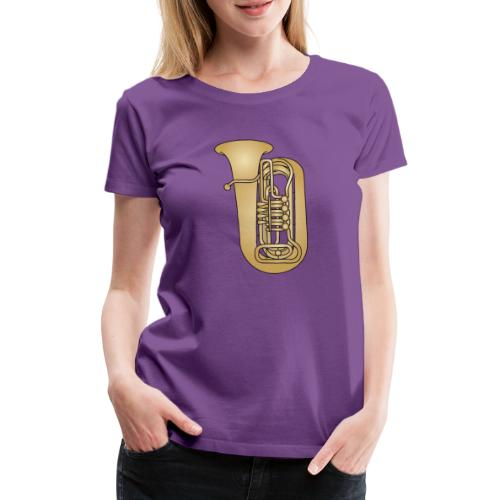 TUBA Blechblasinstrument - Frauen Premium T-Shirt