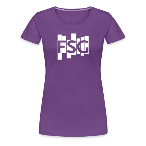 FSG Logo weiß - Frauen Premium T-Shirt