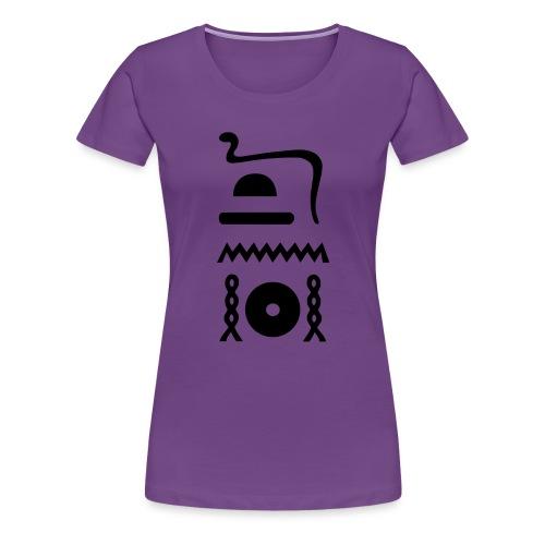 Hieroglyphen: djet-neheh (ewiglich, in Ewigkeit) - Frauen Premium T-Shirt