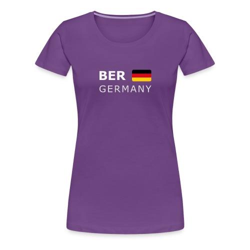 BER GERMANY GF white-lettered 400 dpi - Women's Premium T-Shirt
