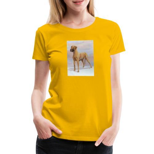 Great Dane Yellow - Dame premium T-shirt