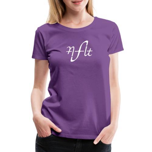 AFLT logo (white) - Women's Premium T-Shirt