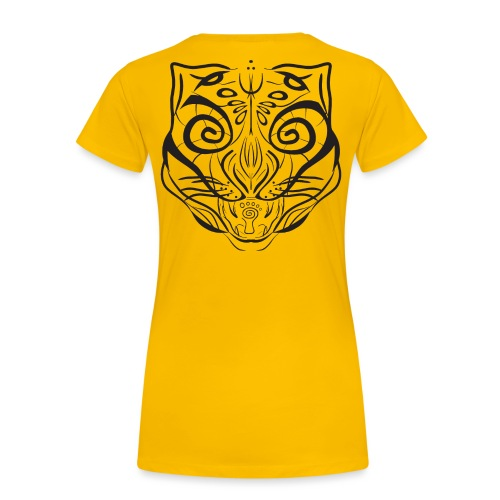 The Parvati Cat by Stringhedelic - Black - Women's Premium T-Shirt
