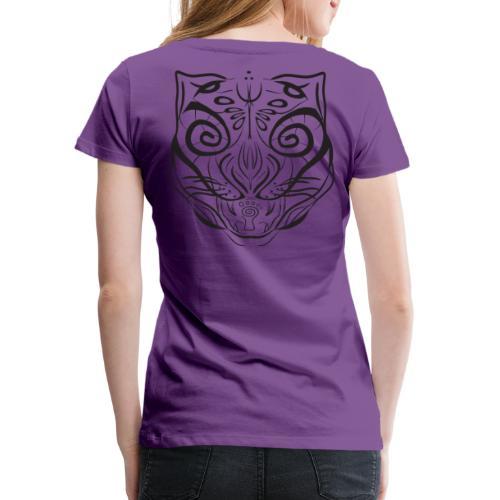 The Parvati Cat by Stringhedelic - Black - Women's Premium T-Shirt