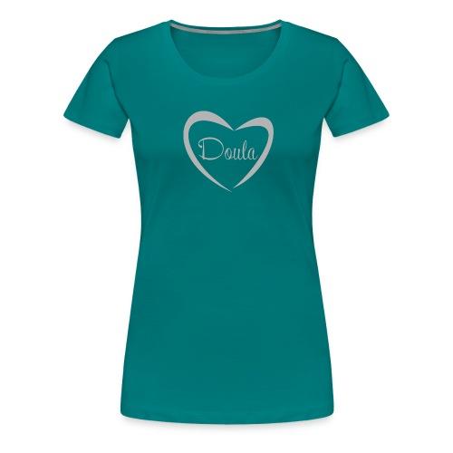 doula sydän harmaa - Naisten premium t-paita