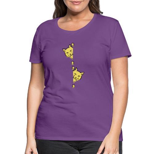 Två gula katter - Premium-T-shirt dam