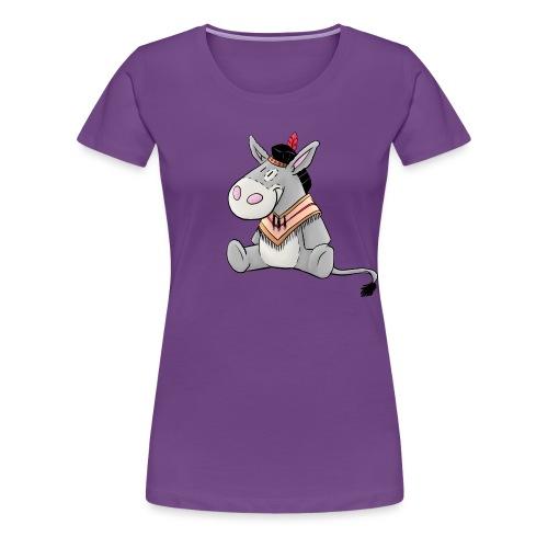 Kuschelesel als Indianer - Frauen Premium T-Shirt