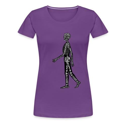Menschen-Skelett - Frauen Premium T-Shirt