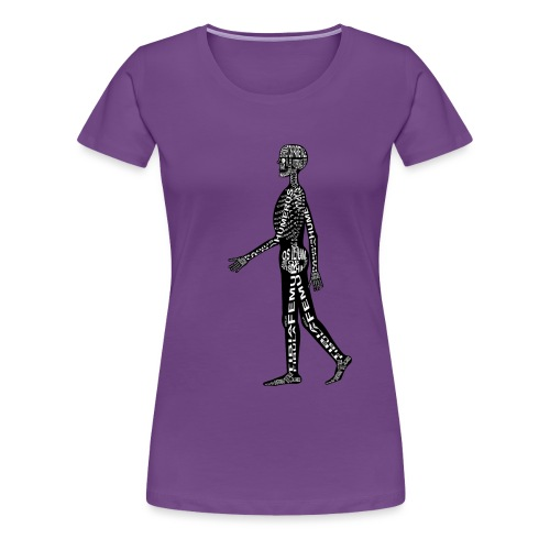 Menschen-Skelett - Naisten premium t-paita