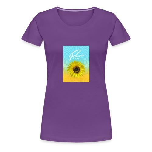 Sonnenblume Sommer Sonnenstrahlen glücklich hygge - Women's Premium T-Shirt