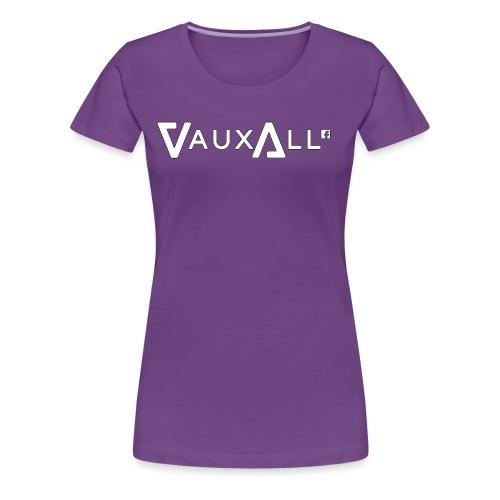 VauxAll Logo   White   Original - Women's Premium T-Shirt