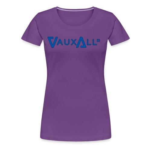 VauxAll Logo | Blue | Original - Women's Premium T-Shirt