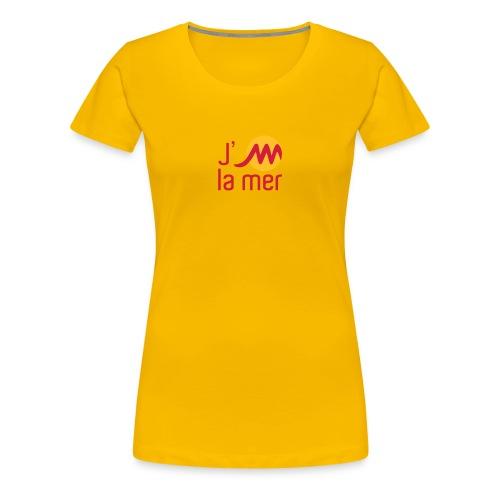 jMmerrougejaune - T-shirt Premium Femme