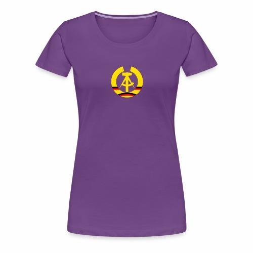 DDR coat of arms stylized (single) - Women's Premium T-Shirt
