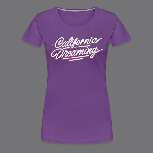 CALIFORNIA DREAMING Vintage Tee Shirt - Women's Premium T-Shirt