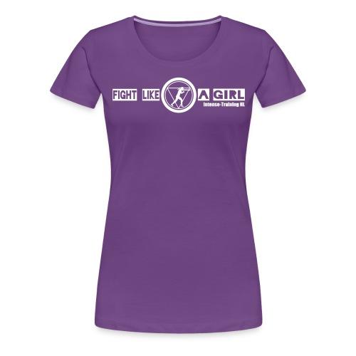 intense woman und schrift pfad - Frauen Premium T-Shirt