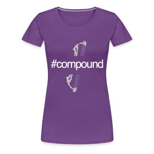 #Compound Blanc - T-shirt Premium Femme