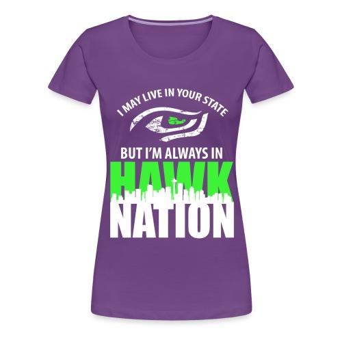 seahawks 2 png - Frauen Premium T-Shirt