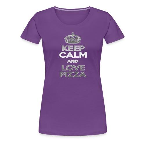 Keep Calm And Love Pizza - Premium-T-shirt dam