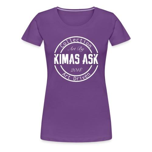 Logo Kimas Ask white - Premium T-skjorte for kvinner