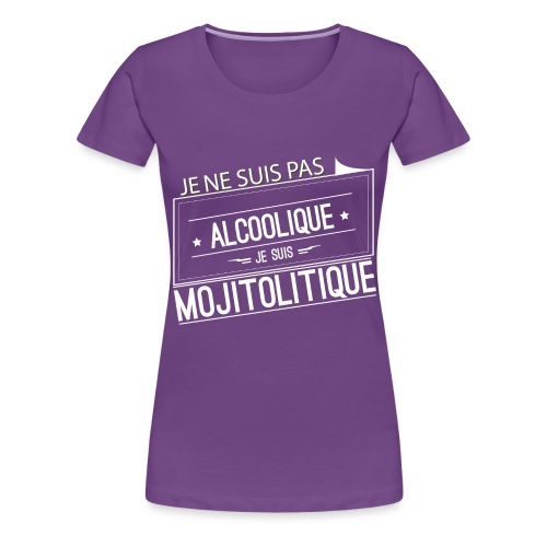 Tee Shirt Femme Violet Col Rond - je suis mojitoli - T-shirt Premium Femme