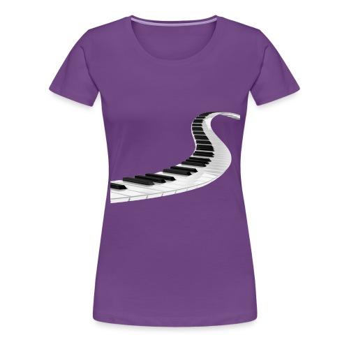 Piano_Ladder_Transparent_ - Premium T-skjorte for kvinner