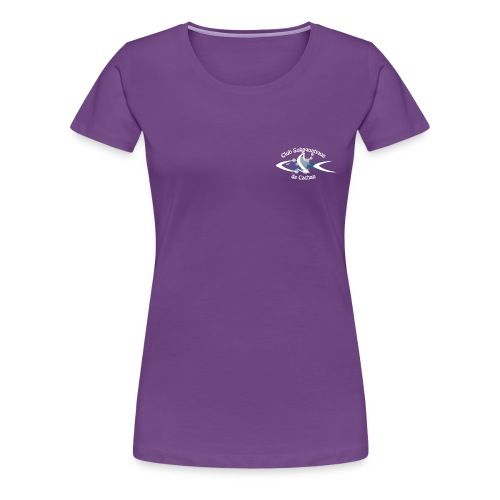 CSC Logo v2 text neg png - T-shirt Premium Femme