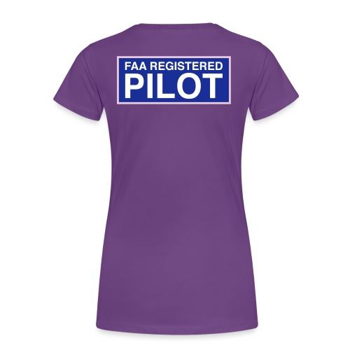 faa part 107 registered pilot - Women's Premium T-Shirt