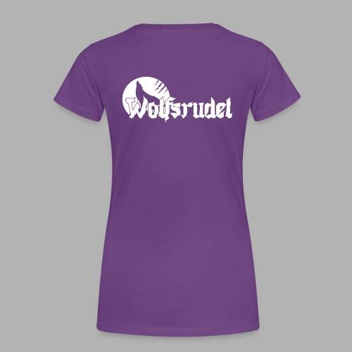 Vektor Logo Wolfsrudel - Frauen Premium T-Shirt