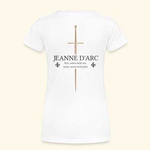 Jeanne d arc dark - Frauen Premium T-Shirt