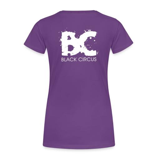 Black Circus Logo white png - Frauen Premium T-Shirt
