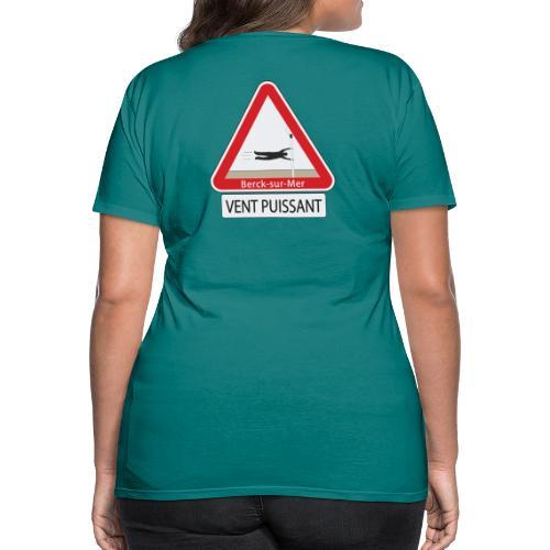 Berck-sur-mer: Vent puissant - T-shirt Premium Femme