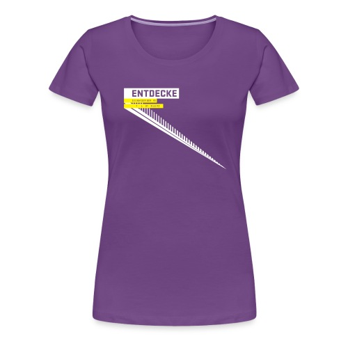 typobalken entdecke wei - Women's Premium T-Shirt