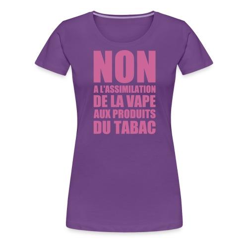 tshirt non fr 1 exp - T-shirt Premium Femme