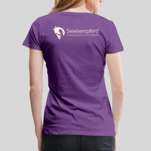 Seelenpferd Logo beige - Frauen Premium T-Shirt