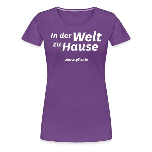 YFU_Logo_RS_weiss - Frauen Premium T-Shirt