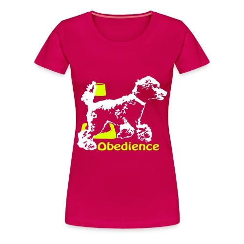 Obedience Kleinpudel umrundet Pylo - Frauen Premium T-Shirt