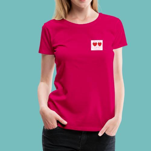 cerdito enamorado - Camiseta premium mujer