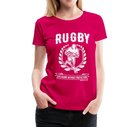 Rugby Pleasure (White) - Women's Premium T-Shirt