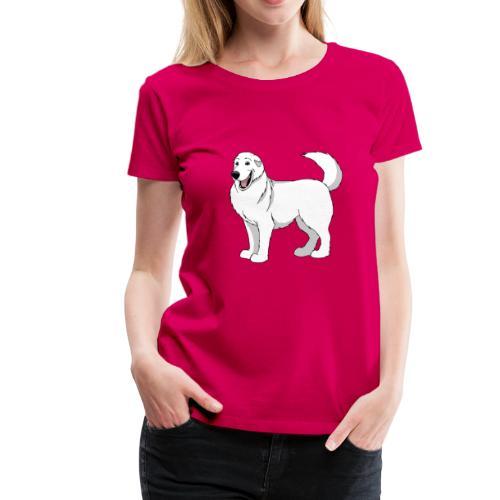 Loveable Pyrenean Mountain Dog - Women's Premium T-Shirt