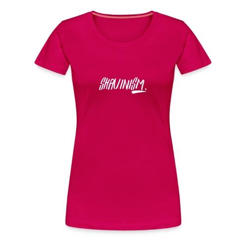 Shavinism logo white - Women's Premium T-Shirt