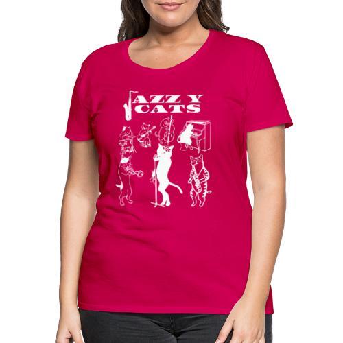 Jazzy Cats - T-shirt Premium Femme