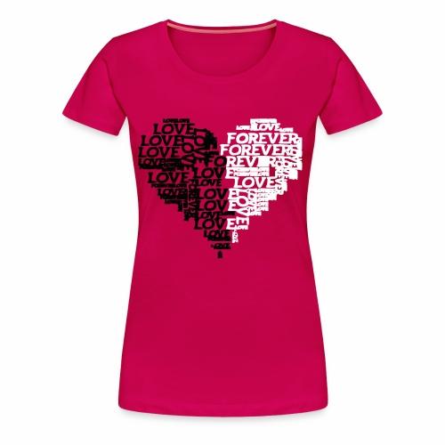 Valentiensdayliebe Liebe - Frauen Premium T-Shirt